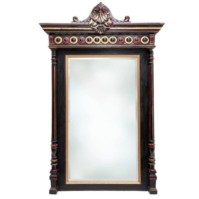 Brown Regency Style Overmantel Mirror For Sale - Image 8 of 8