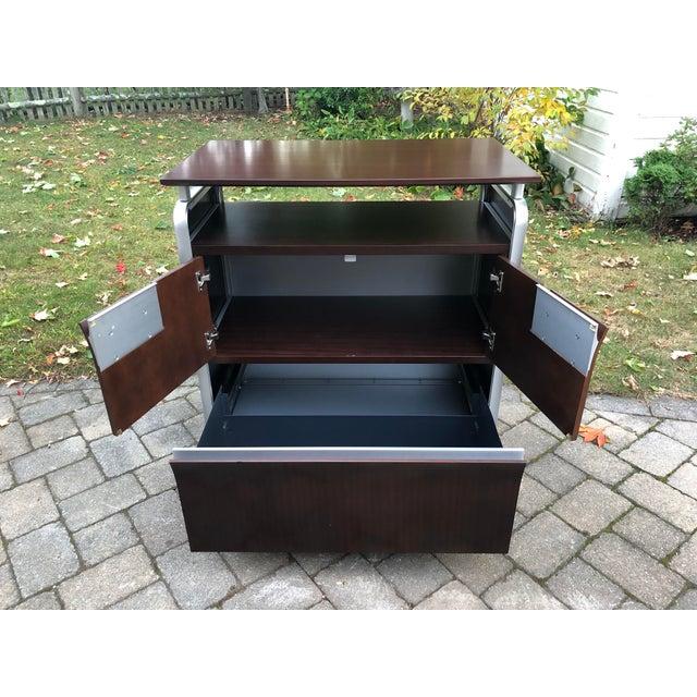 Herman Miller Rosewood & Metal Cabinet For Sale - Image 9 of 13