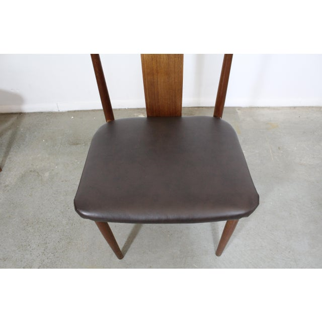 Set of 4 Mid-Century Modern Folke Ohlsson Style Teak Dining Chairs For Sale - Image 10 of 13