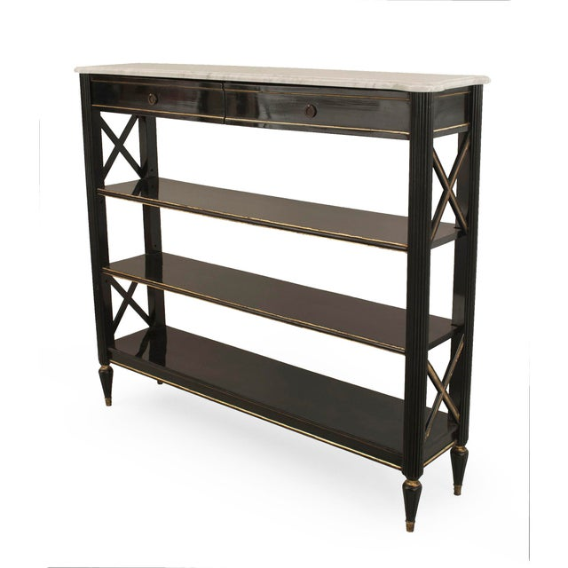 Early 20th Century French 1940s 'Directoire Style' Étagère (Signed: Jansen) For Sale - Image 5 of 5