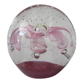 Art Glass Paper Weight For Sale