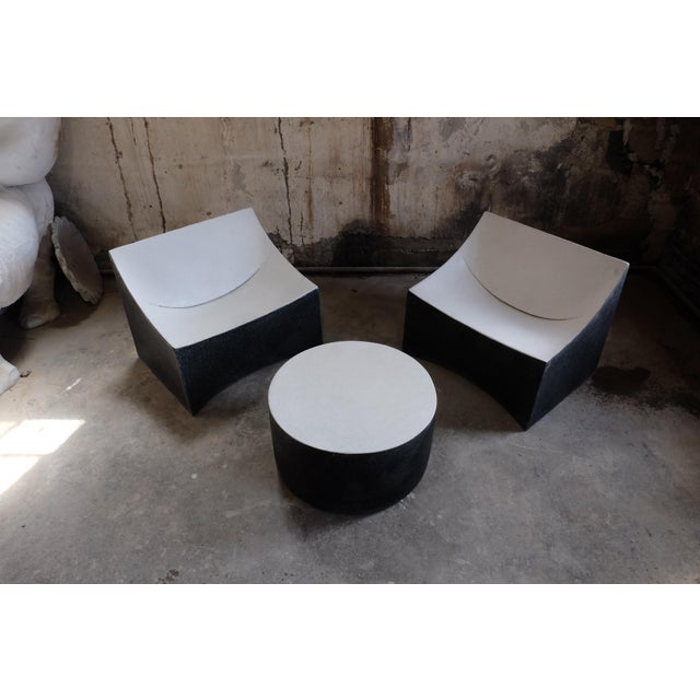 Cast Resin 'Millstone' Coffee Table, Bw Finish by Zachary A. Design For Sale - Image 4 of 7
