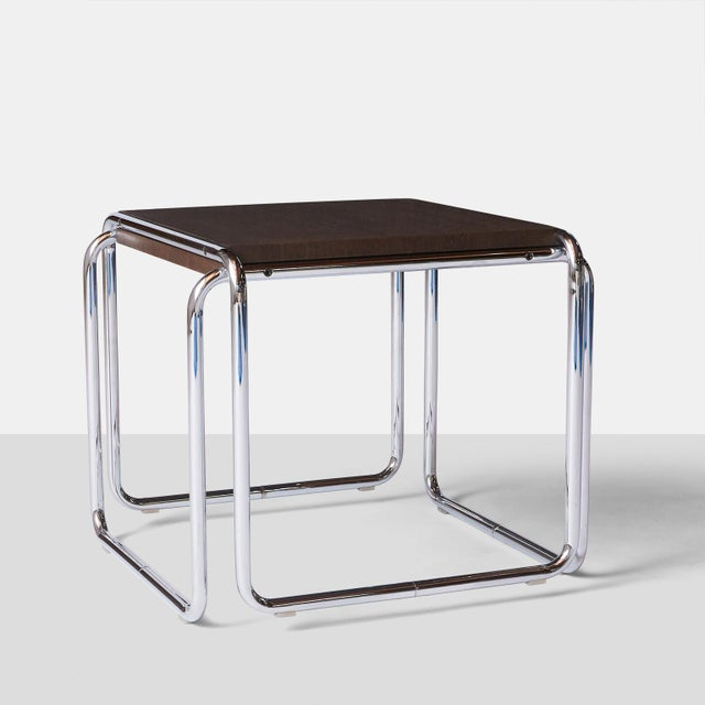 Mid-Century Modern Laccio Tables by Marcel Breuer - A Pair For Sale - Image 3 of 8