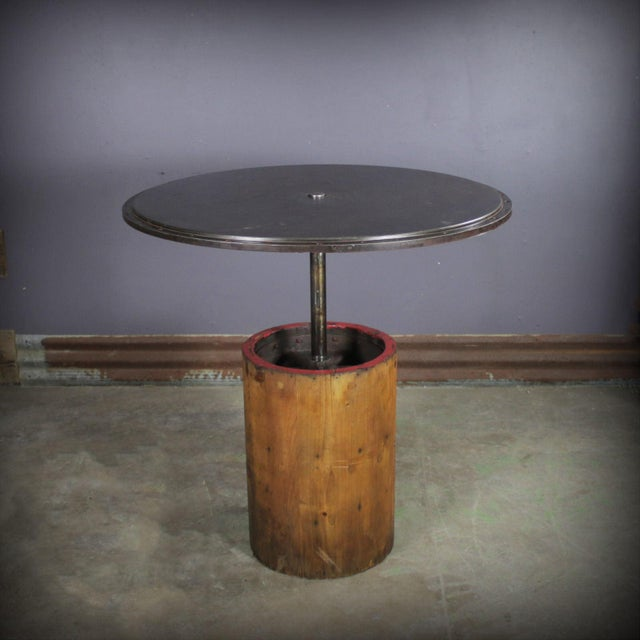"""1930 Industrial Sander Drum 40"""" Pub Table For Sale In Chicago - Image 6 of 6"""