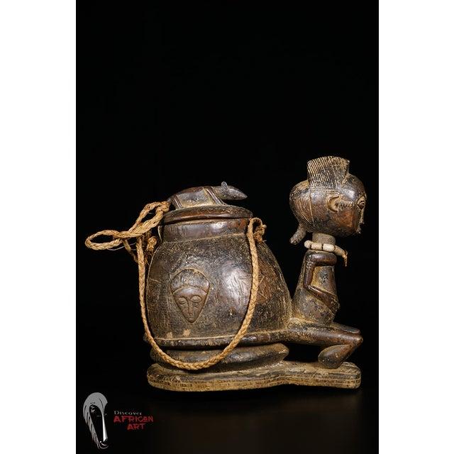 Baule African Tribal Divination Bowl - Image 3 of 11