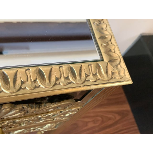 19th French Bronze Mirrored Dressing Table or Vanity With Three Drawers For Sale - Image 9 of 12