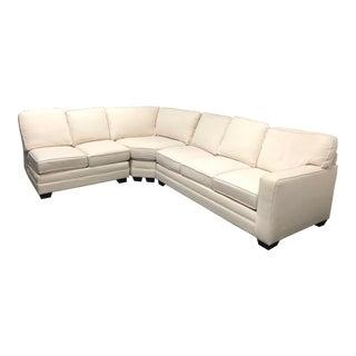 Bassett White Three Piece Sectional