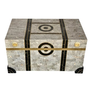 Robert Marcius Tessellated Stone Trunk for Casa Bique For Sale