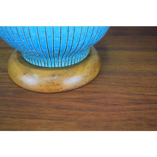 Metal Huge Aldo Londi for Bitossi Ceramic Table Lamp For Sale - Image 7 of 11