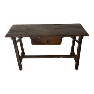 19th C Rustic Italian Trestle Table For Sale