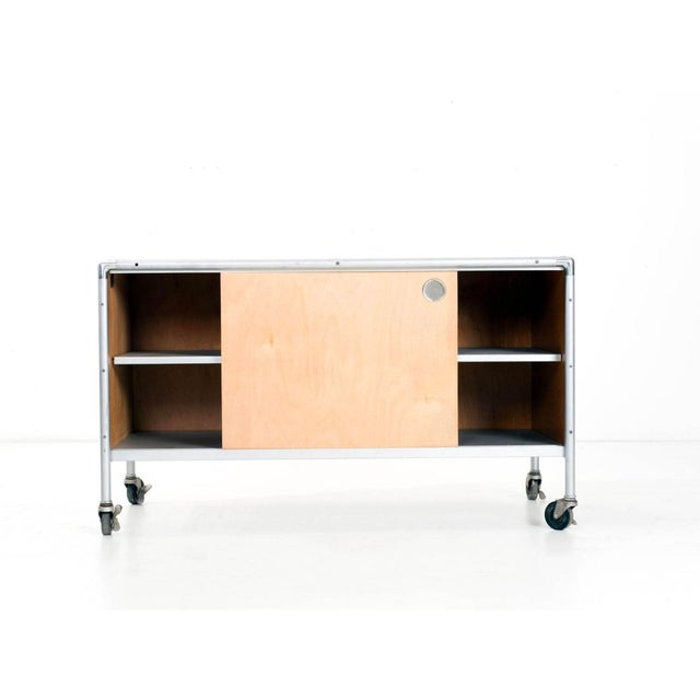 Henry Glass Henry P. Glass Storage Rolling Credenza For Sale - Image 4 of 11