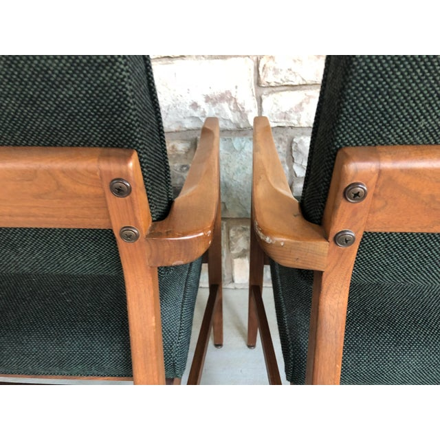 Mid Century Danish Modern Upholstered Arm Chairs - a Pair For Sale - Image 9 of 11