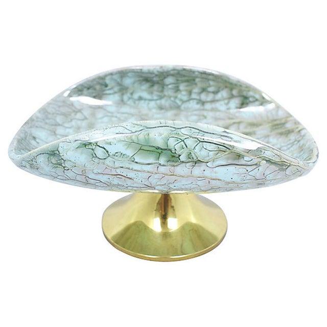 1950s Delft Porcelain Pedestal Bowl For Sale - Image 5 of 8