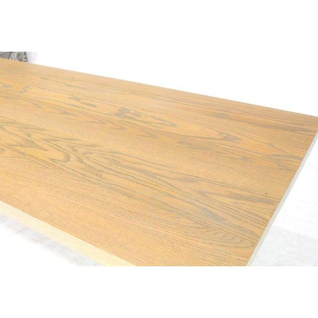 White Wash Oak Stain: Exquisite Solid White Wash Finish Oak Top Scissor Wrought