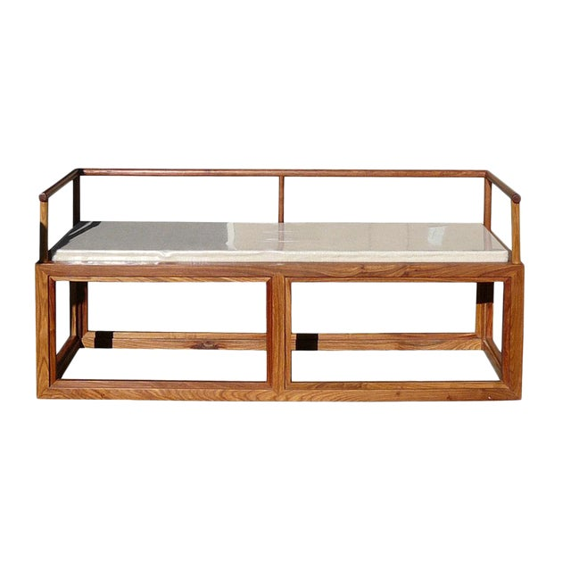 Rosewood Chinese Simple Zen Design Daybed Bench Chair For Sale