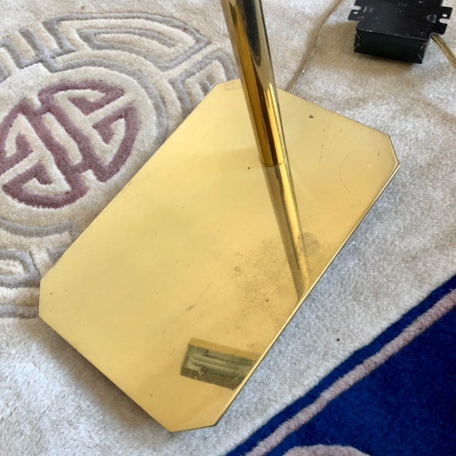 Brass Anthony Howard Koch & Lowy Brass Adjustable Floor Lamps- a Pair For Sale - Image 8 of 10