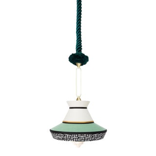 Contardi Calypso Guadalupe Pendant Light in Moss Green and Mint For Sale