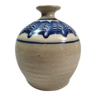 Early 21st Century Nafziger Art Pottery Bud Vase / Weed Pot For Sale