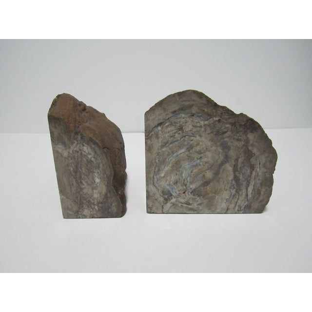 Vintage Gray Geode Bookends - A Pair - Image 4 of 7