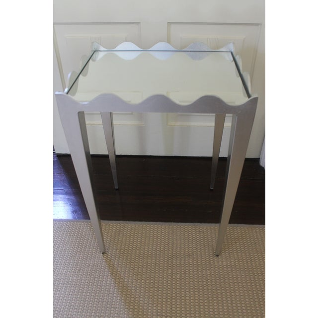 Worlds Away Wave Edge Side Table For Sale - Image 10 of 10