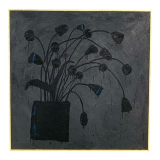 Botanical 11. Encaustic Painting by John O'Hara For Sale