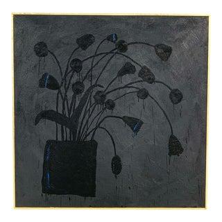 Botanical 11. Encaustic Painting by John O'Hara For Sale