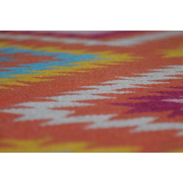 Rainbow Flat Weave Diamond Turkish Wool Kilim Rug - 4' x 6' - Image 10 of 12