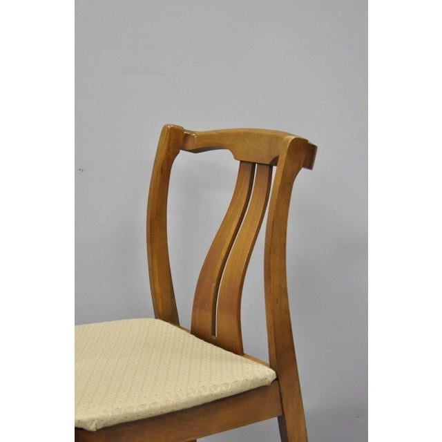 Vintage Mid-Century Modern Curved Back Walnut Dining Chairs - Set of 4 For Sale In Philadelphia - Image 6 of 12