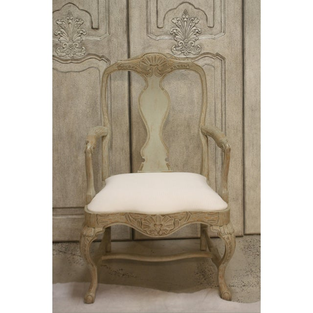 Swedish Rococo Dining Armchair For Sale - Image 6 of 7