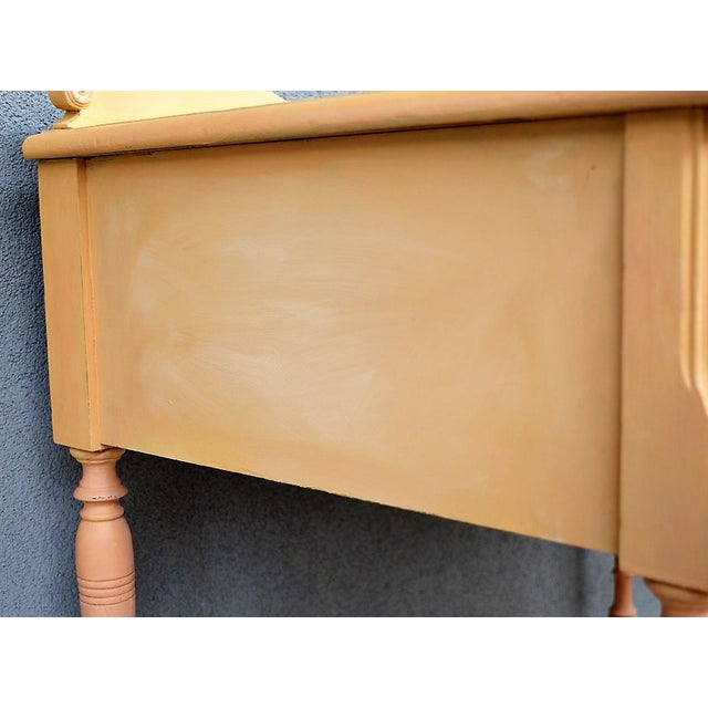 1910s Folk Art Yellow Painted Console Table With Decoupaged Drawers For Sale In Austin - Image 6 of 11