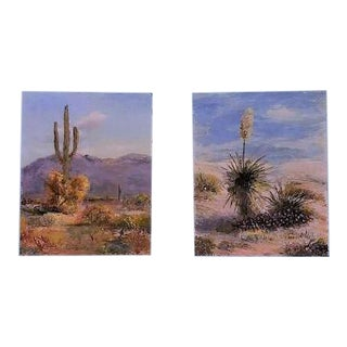 Original Oil Signed Russell Southwest Paintings - A Pair For Sale