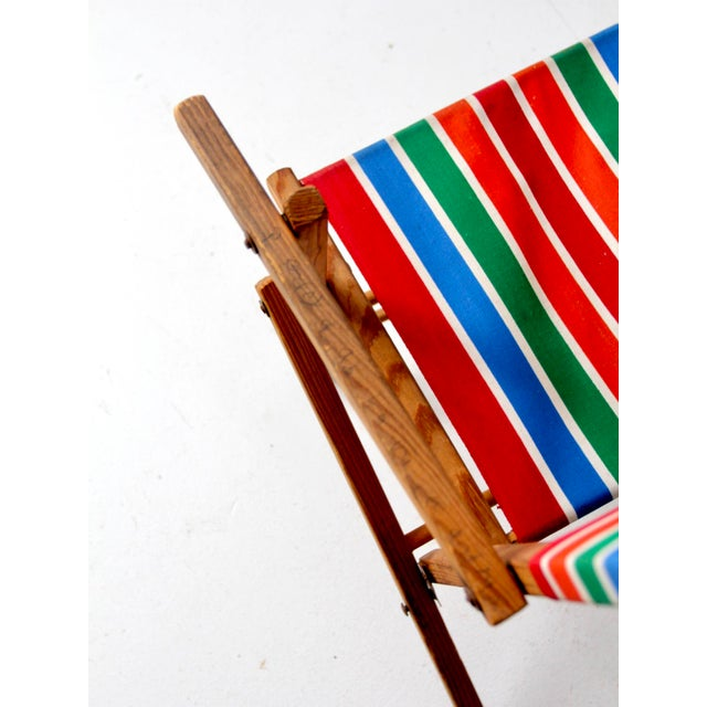 White Mid-Century Kid's Folding Chair For Sale - Image 8 of 10