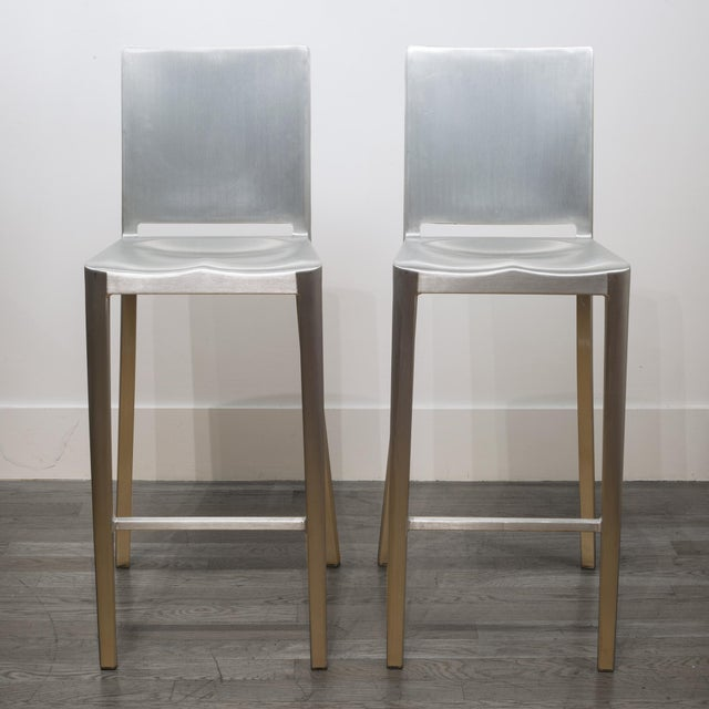 2010s Set of 4 Emeco Hudson Counter Stools by Philippe Starck For Sale - Image 5 of 10