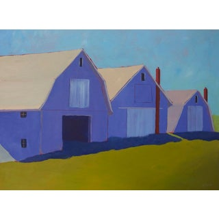 "Contemporary Landscape Painting ""1 Potato, 2 Potato 3 Potato Barn"" by Carol C Young For Sale"