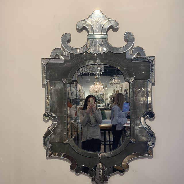 Antique Venetian Wall Mirror For Sale - Image 9 of 13