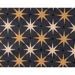 Hinson for the House of Scalamandre Star Power Fabric in Charcoal For Sale