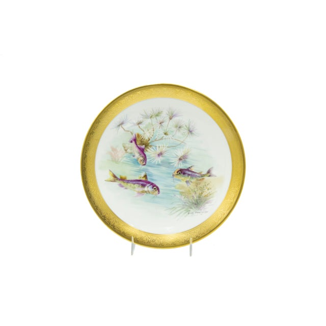 Ceramic French Victorian Porcelain Dinner Plates - Set of 12 For Sale - Image 7 of 11