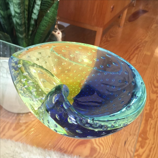 1960s Venini Murano Art Glass Ash Tray - Image 7 of 8