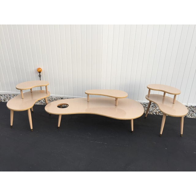 Mid-Century Kidney End Tables And Coffee Table