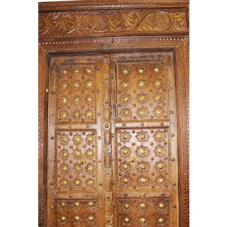 Antique Indian Hand Carved Wooden Door and Frame Preview