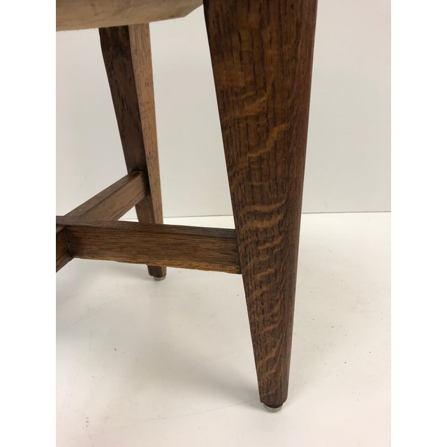 1940s French Oak Stools For Sale - Image 4 of 6