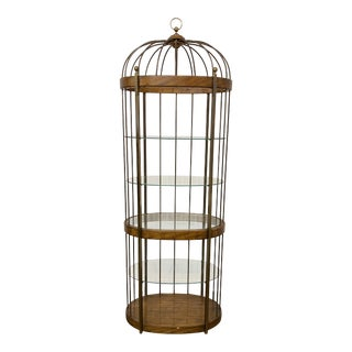 Weiman Brass Birdcage Etagere For Sale