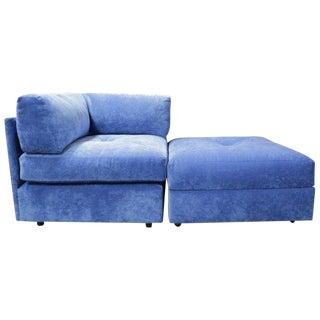 Milo Baughman for James Inc. Furniture Two-Piece Settee