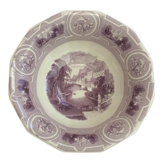 Lavender Colored Transfer Ware Bowl