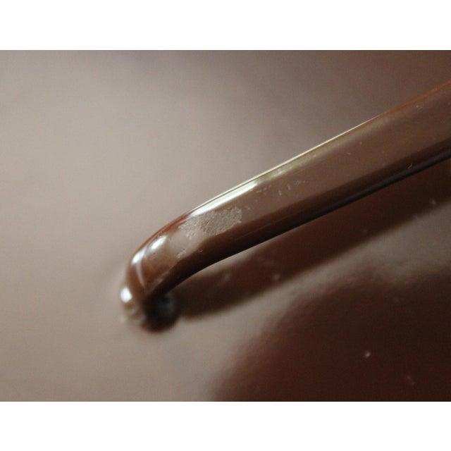 Mid 20th Century Large Brown Dansk Kobenstyle Enamel Skillet Frying Pan With Lid Jens Quistgaard For Sale - Image 5 of 10
