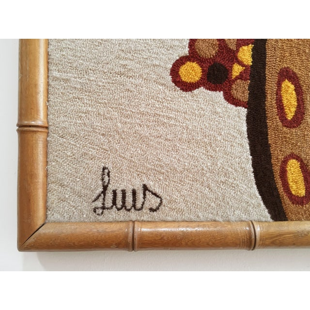 Luis Montiel Woven Rug Tapestry- 70s Botanical Textile Art For Sale - Image 4 of 9