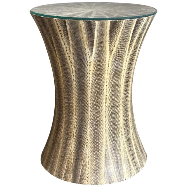 1980s 1980s Contemporary Snakeskin Table For Sale - Image 5 of 5