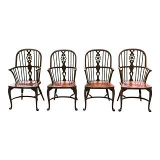 Traditional Oak Dining Chairs by Baker - Set of 4 For Sale