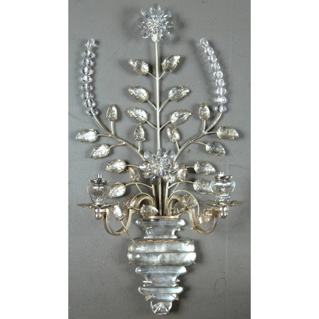 1930s French Silver Plated Sconces - a Pair For Sale In New York - Image 6 of 8