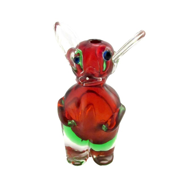 Vintage 1969 Drioli Murano Glass Liqueur Bottle For Sale - Image 11 of 11